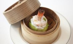 lung king heen #hongkong Lobster and Scallop Dumpling #dimsum