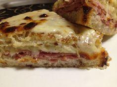 The Croque Monsieur that set the bar:  Grilled Pan de compagne bread, Gruyere bechamel, European Niman Ranch Ham. . .