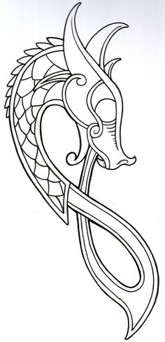Viking Dragon Outline 2011 by vikingtattoo on DeviantArt - Viking Dragon Outline. - Viking Dragon Outline 2011 by vikingtattoo on DeviantArt – Viking Dragon Outline… – Viking D - Dragon Tattoo Outline, Viking Dragon Tattoo, Celtic Dragon Tattoos, Dragon Tattoos For Men, Chinese Dragon Tattoos, Dragon Tattoo Designs, Viking Tattoos For Men, Fenrir Tattoo, Norse Tattoo