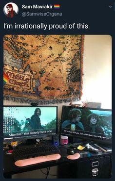 Gandalf, Legolas, Earth Memes, Concerning Hobbits, O Hobbit, Jrr Tolkien, Book Tv, Dark Places, Harry Potter Memes