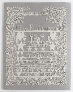 Let Nothing You Dismay, Papercut for White Ribbon Alliance charity commissioned by Elle Magazine, April Issue 2009
