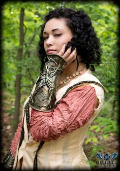 Bracers inspired by Brian #Froud. Model Patrice Wilson. Photo by #TempusFugitDesign #asheville
