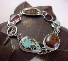 Koroit Boulder and Turquoise Bracelet by Simply_Adorning, via Flickr