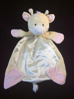 Gund Baby Tender Beginnings Huggybuddy Giraffe Pink Yellow Security Blanket #GUND