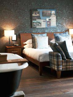 Hotel du Vin Edinbugh | advertised as elegant yet unpretentious.  My kind of place.