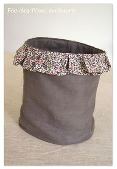 This would be so cute as a waste basket for your sewing area.