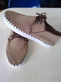 zapatos tejidos a crochet para dama ile ilgili görsel sonucu