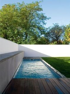 pool against wall