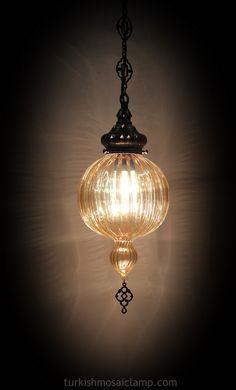 Turkish Blown Glass Chandelier (2) - Mosaic Turkish Lamps, Wholesale Turkish Mosaic Lamps, Ottoman Lamps, Turkish Lamps,Moroccon Lamp