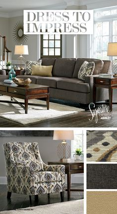 Dress To Impress   Barinteen Sofa   Living Room Furniture And Accessories   Ashley  Furniture