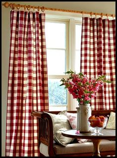 Red Buffalo Check Curtains I Have These In My Bedroom