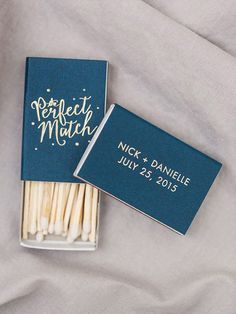 'The Perfect Match' matchbox wedding favours personalised with the couple's names and wedding date | Bradley James Photography Wedding Welcome Bags, Wedding Favors For Guests, Personalized Wedding Favors, Unique Wedding Favors, Wedding Gifts, Wedding Day, Gown Wedding, Wedding Cakes, Lace Wedding