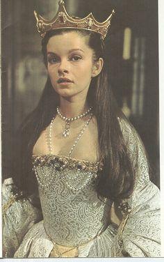 "Anne Boleyn's coronation costume in ""Anne of a Thousand Days""."