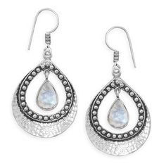 $80  Sterling Silver  Rainbow Moonstone Earrings  65332
