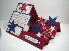 Peanuts and Peppers Papercrafting: Stampin' Up Land Of The Free Side Step Card