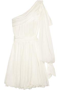 Faith Connexion|One-shoulder silk-chiffon dress|NET-A-PORTER.COM