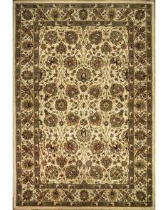Handmade Rectangular Persian Sultanabad Area Rug in Ivory, 6x9