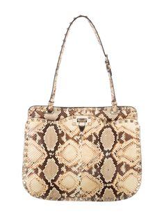 Valentino Python Rockstud Shoulder Bag
