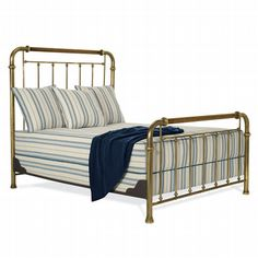 Hither Hills Brass Bed-small guest room
