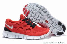 Cheap Red Black White Womens 443815-121 Nike Free Run 2
