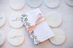 Menu, Wedding Paper