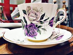 Pretty purple teacup