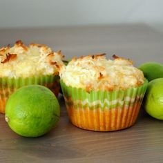 Coconut Key Lime Muffins