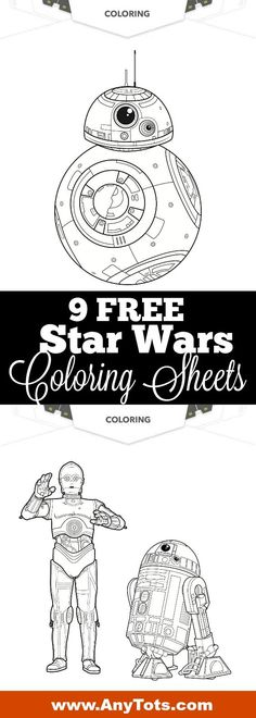 Free Star Wars Coloring Pages and other Free Printable Star Wars Activity Sheets. www.anytots.com #starwars #TheLastJedi #freeprintable #freeprintables #birthdayparty #partyideas #party #bb8