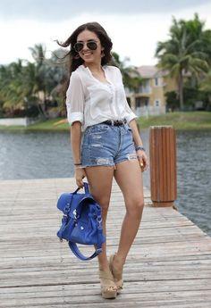 oasap  Camisas / Blusas, Urban Outfittersurban-outfitters  Pantalones cortos and Mimi Boutique  Bolsos