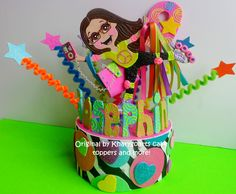 Roller Skate theme cake topper or party centerpiece original piece by kharygoarts