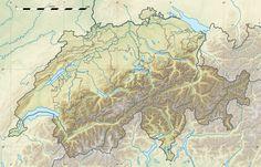 Switzerland Relief Map