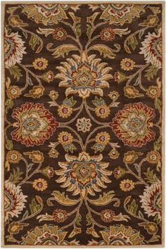 master bedroom ??? Surya Caesar CAE-1051 Chocolate / Brown / Gold Area Rugs