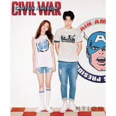 "Lee Sung Kyung and Nam Joo Hyuk - Nylon Magazine April Issue '16 @skawngur @heybiblee <span class=""emoji emoji1f49c""></span><span class=""emoji emoji1f49c""></span>"