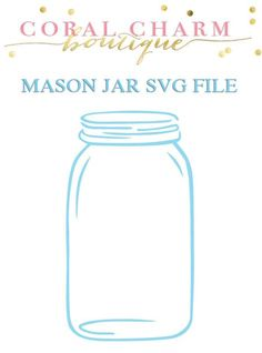 Mason Jar SVG File