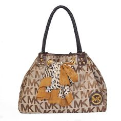 Charming Michael Kors Scarf Jacquard Large Beige Shoulder Bags Make You To  BeCrazy 8b353b2127a88