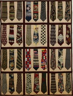 Love this!!! I have 500 ties waiting to be made into a quilt!