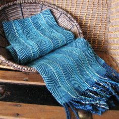 Turquoise and Diamonds   Woven Table Runner by PurpleDesignStudio