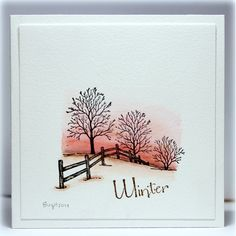 Serendipity Stamps Winter Fenceline and Winter rubber stamps ($1 Cling Sale)
