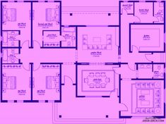 Family House Plans, Modern House Plans, House Floor Plans, House Ceiling Design, House Design, Drawing House Plans, Square House Plans, Cheap Living Room Sets, House Construction Plan