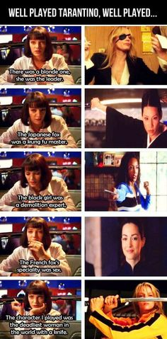 Tarantino told us about Kill Bill in Pulp Fiction... Your Excuse is Invalid...