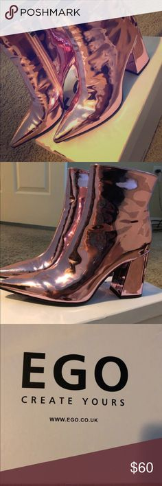 Pink Shiny Booties from EgoOfficial Size 8 Pink Shiny Booties from EgoOfficial Size 8 Shoes Ankle Boots & Booties