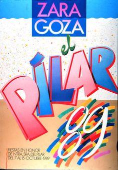 Cartel a concurso del Pilar año 1989 Titulo: Goza el Pilar 89