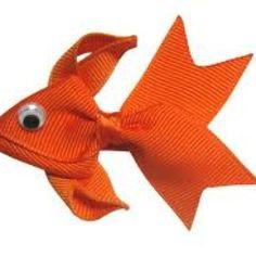 Goldfish hair bow 