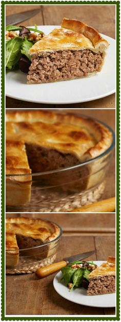 I love savory pies too, and a tourtiere or meat pie is a very accommodating dish for any time of the year, especially when your schedule is jammed packed with everyone and everything else! Traditionally a French-Canadian dish served during the Christmas holiday season, I like to have a few of these in the freezer for those days you just don't have time to cook. We even have them after a long afternoon on the golf course! This is one pie you will want to serve anytime, not just at Christmas…
