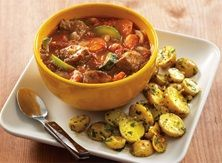 Hearty Beef Stew With Lemony Baby Potatoes