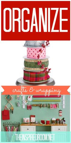 http://theinspiredroom.net/my-current-house-tour/Lots of tips for organizing craft rooms and wrapping paper!