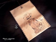Luffy Pirate Genuine Leather Tobacco Pouch  Case by TobaccoPouch