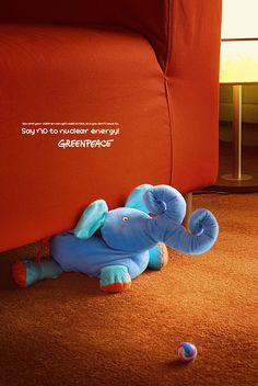 "#Nuclear ""Elephant"" - #Greenpeace by Scala JWT #Advertisement"