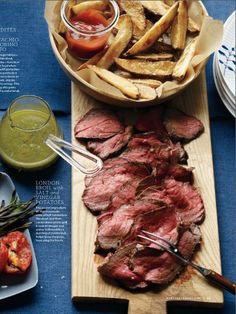 London Broil with Salt, Vinegar, and Potatoes - Martha Stewart Living