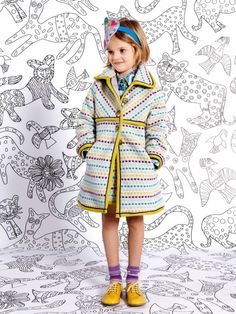 Shop Missoni Kids Fall Winter 2013 Collection Designed in Italy. Adorable Mini Me Fashion Sharing Brand DNA as Popular Women's Runway Collection. Little Girl Fashion, Kids Fashion, Moda Crochet, Kids Studio, Cool Kids Clothes, Little Doll, Girls Boutique, Kid Styles, Missoni